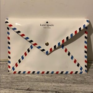 Kate Spade ♠️ PAR AVION envelope clutch